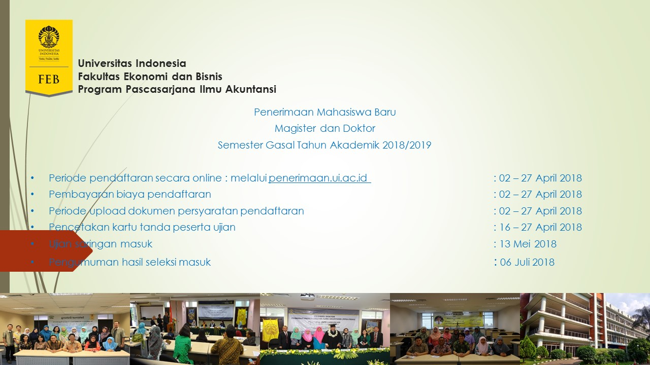 Tanggal Penting Penerimaan Mahasiswa Baru Semester Gasal TA 2018/2019