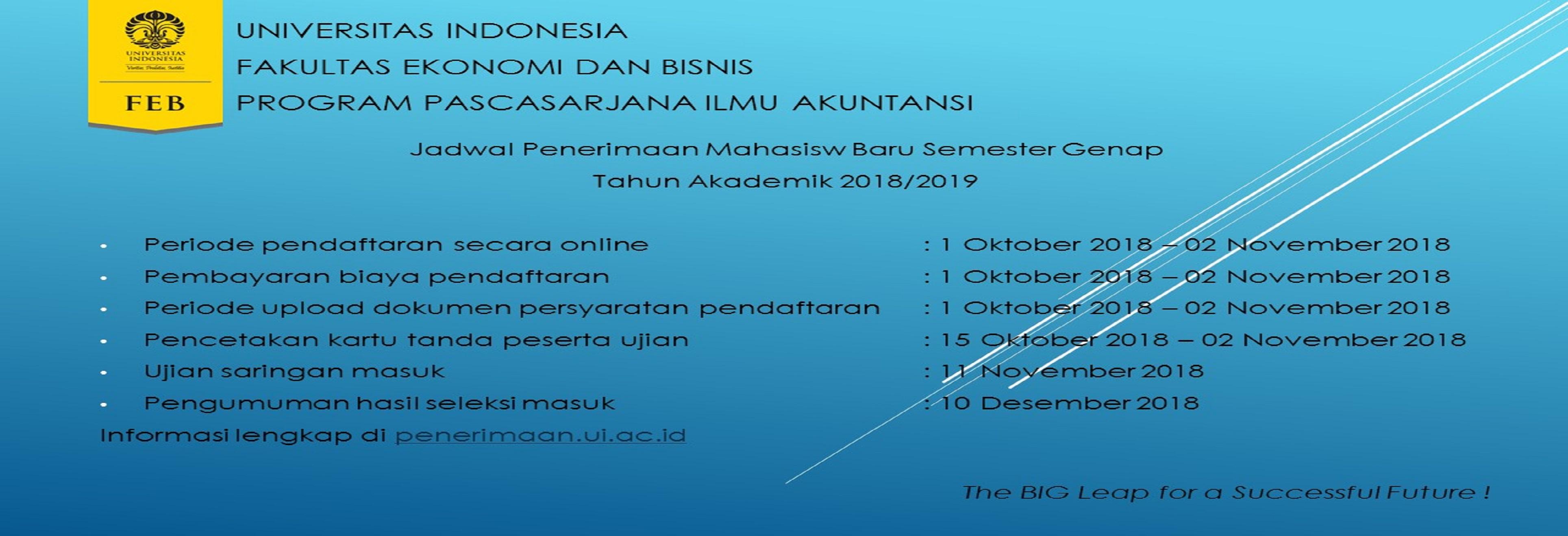 Jadwal Pendaftaran Semester Genap TA 20182019