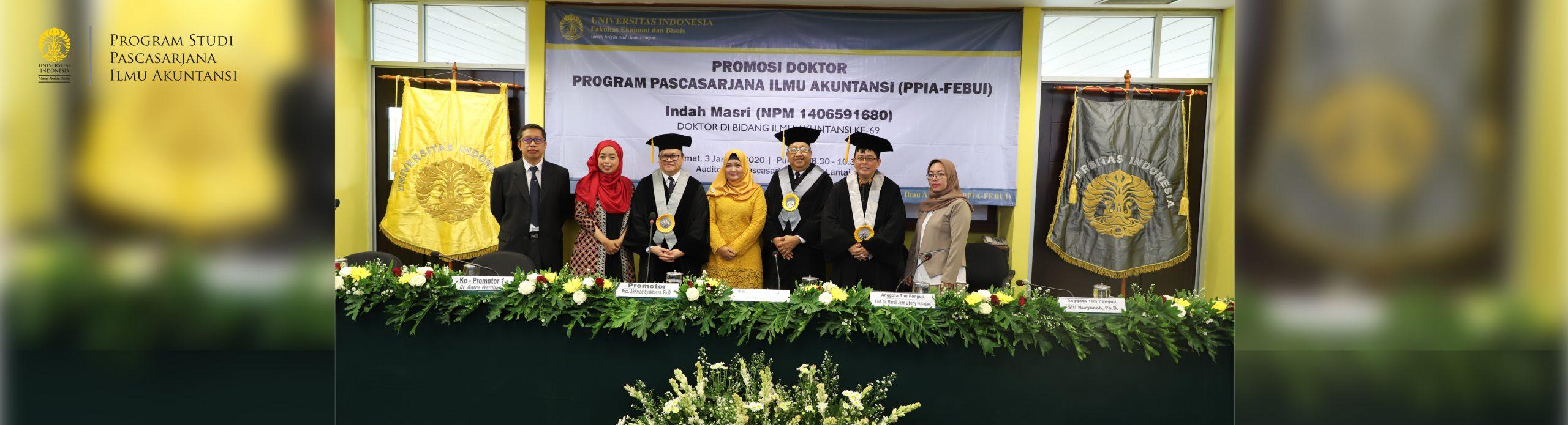 Promosi Doktor Indah Masri