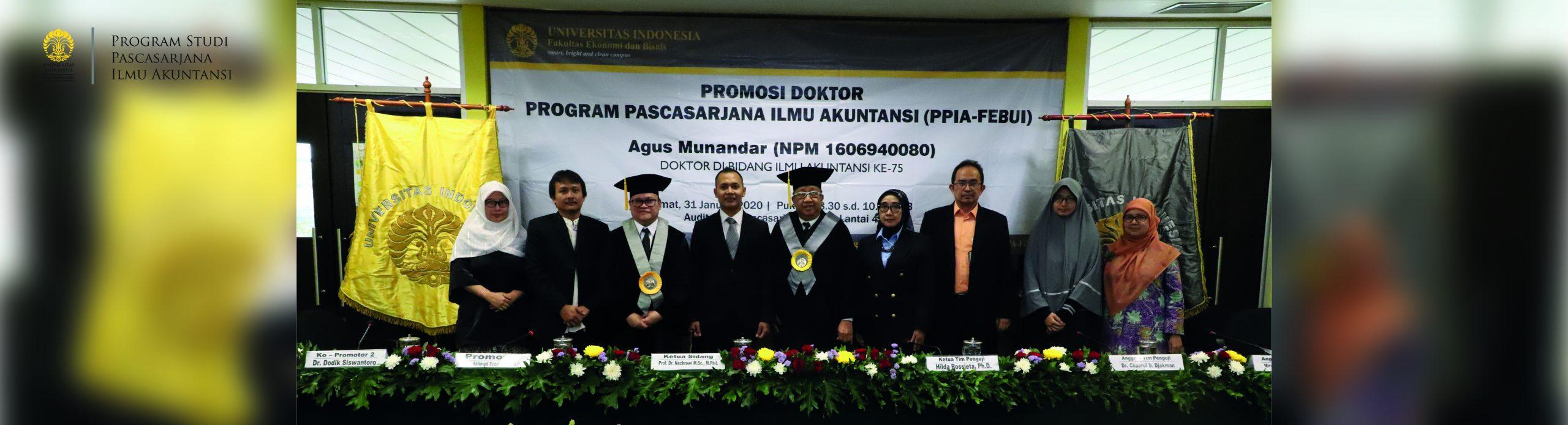 Promosi Doktor Agus Munandar